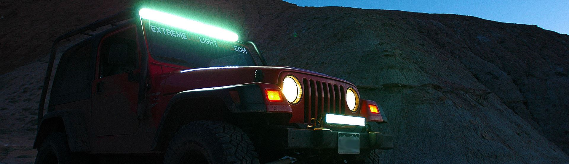 Jeep Wrangler with LED Light Bar