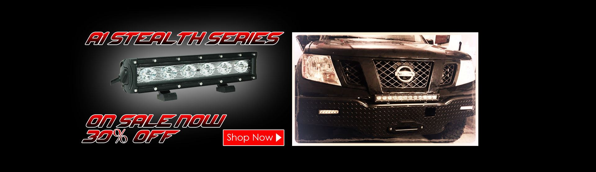 A1 Stealth Series LED Light Bars On Sale Now